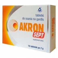 AKRON SEPT X 16 TABLETKI DO SSANIA