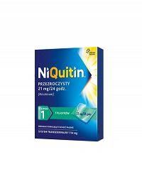 NIQUITIN PLASTRY 21MG/24H X 7 SZT KROK 1