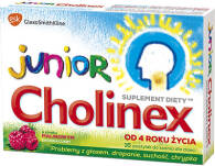CHOLINEX JUNIOR SMAK MALINOWY X 16 TABLETKI DO SSANIA