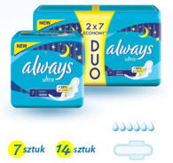 PODPASKI ALWAYS ULTRA NIGHT 2 X 7 SZT DUOPACK